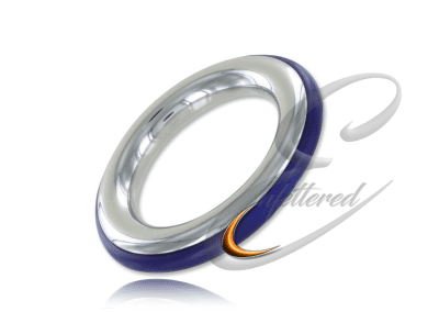 Silicone and Stainless Cock Ring Blue