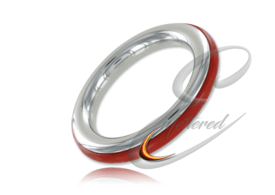 Silicone and Stainless Cock ring red