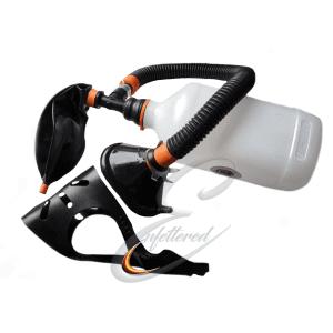 Inhaler with rebreather